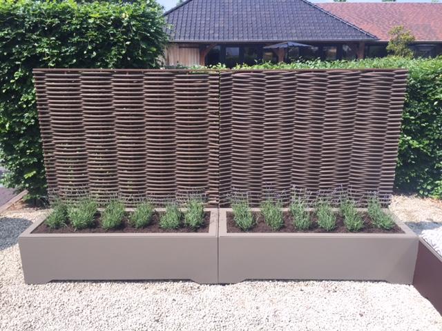 Fiberblocks - plantenbak met enkel geweven fiber